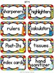 """Just Colors"" Classroom Supply Labels"