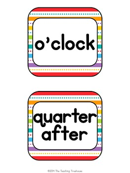 """""""Just Colors"""" Clock Numbers"""