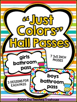"""""""Just Colors"""" Hall Passes"""