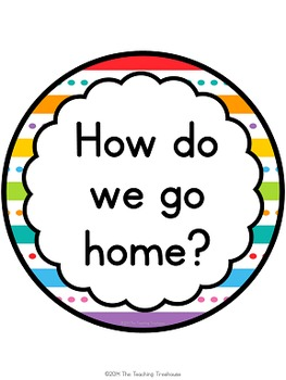 """""""Just Colors"""" How Do We Go Home? Clip Chart"""