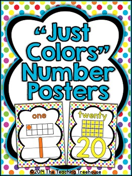 """Just Colors"" Number Posters"