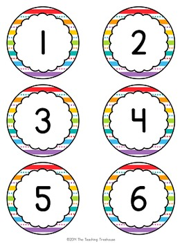 """Just Colors"" Numbers 1-120"