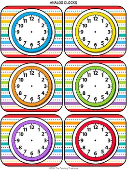 """""""Just Colors"""" Schedule Cards"""