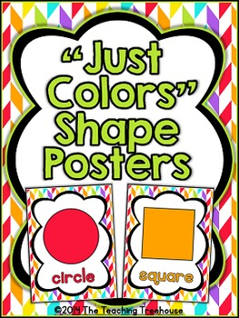 """""""Just Colors"""" Shape Posters"""