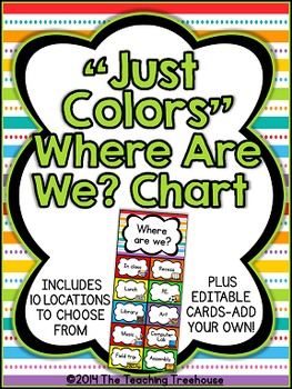 """""""Just Colors"""" Where Are We? Clip Chart"""
