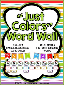"""""""Just Colors"""" Word Wall"""