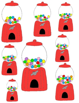 Just Counting Clip Art: Gumballs in a Machine 42 PNGs to Count from 0 to 20!
