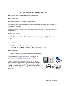 Just Dance Lesson Plan