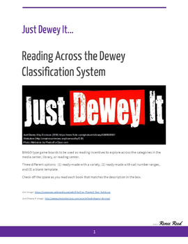 Just Dewey It - Reading Across the Dewey Decimal Classification System