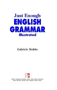 Just Enough English Grammar Illustrated