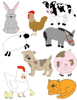 Just Farm Animals Clip Art: 34 PNGs by Rebekah Brock | TpT