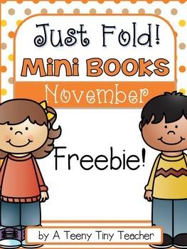 Just Fold! Mini Book {Freebie}