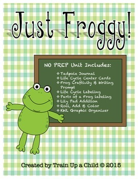 Just Froggy!  Life Cycle of a Frog Integrated Unit! (Kindergarten-1st)
