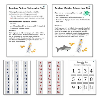 Multiply by 2 Printable Multiplication Math Games
