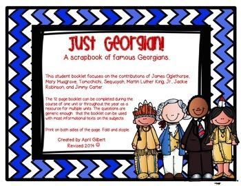 Just Georgian! A scrapbook of famous Georgians.