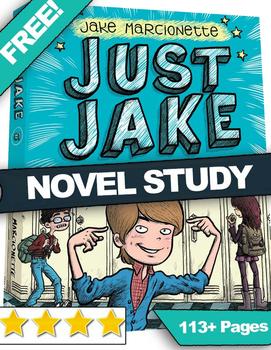 FREE NYT Best Seller Just Jake Novel Study Guide | Reading Quiz | Vocab |Writing