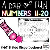 A Dab of Fun {Bingo Dauber Activities for Numbers 11-20}