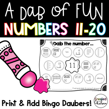 Just Keep Dabbing! {Bingo Dauber Activities for Numbers 11-20}
