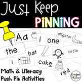 Just Keep Pinning! {Math and Literacy Push Pin Activities}