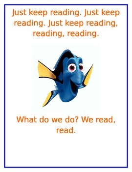 Just Keep Reading- Disney Finding Nemo