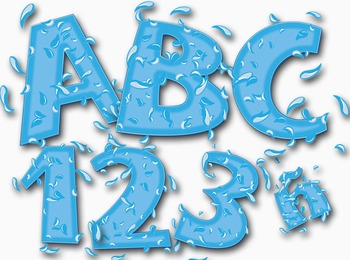 "Just Keep Swimming Alphabet  /  97 pcs - 4"" High, Vector PDF and PNGs"