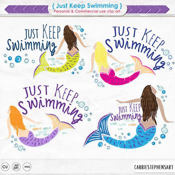 Mermaid Illustrations, Swimming Clip Art, Swim, Water, Fitness Motivation