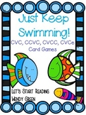 Just Keep Swimming!  Vowel Pattern Card Games