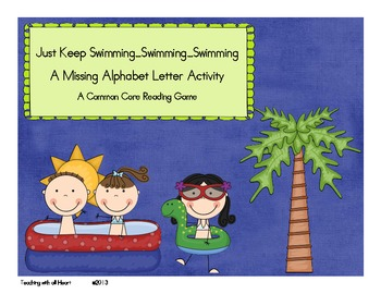 Just Keep Swimming...Swimming...Swimming Missing Alphabet Letters Activity