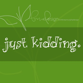 Just Kidding Font for Commercial Use