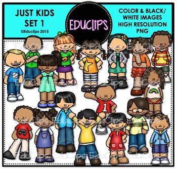 Just Kids 1 Clip Art Bundle {Educlips Clipart}
