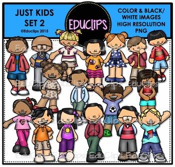 Just Kids 2 Clip Art Bundle {Educlips Clipart}