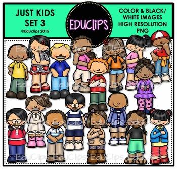 Just Kids 3 Clip Art Bundle {Educlips Clipart}
