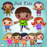 Just Kids Diverse Happy Colourful Clipart