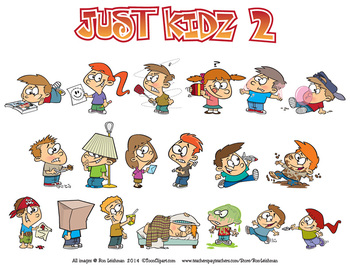 Just Kidz (Kids) Cartoon Clipart Vol. 2
