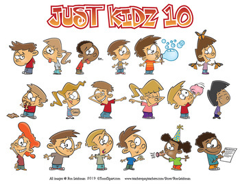 Just Kidz (Kids) Cartoon Clipart Vol. 10 for all grades