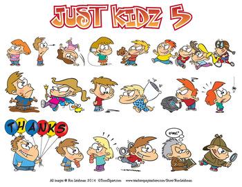 Just Kidz (Kids) Cartoon Clipart Vol. 5