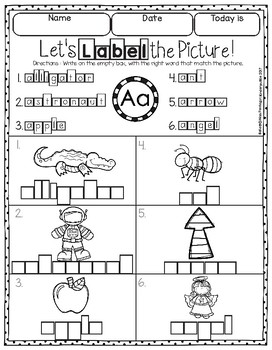 Let's Label from A to Z the Freebie 26 Pages