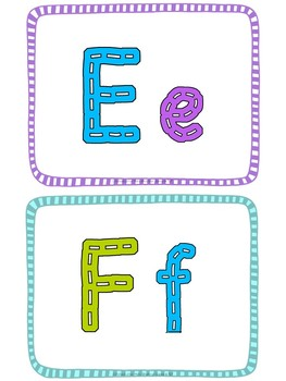 Just Letters:  26 Letter Mats to Practice Handwriting