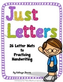 Letter Mats and Flash Cards for Handwriting, Letter Recognition and ABC Order
