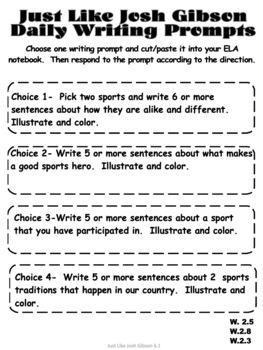 Just Like Josh Gibson -Reading Street (2013) 2nd Grade Unit 6 Week 1