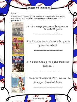 Just Like Josh Gibson Reading Street Reading Comprehension Activity Pack
