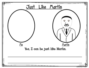 Just Like Martin {Martin Luther King Jr. Day} Kindergarten & First