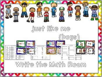 Just Like Me {Boys} Write the Math Room