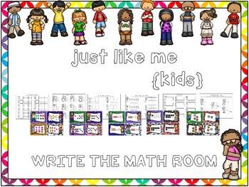 Just Like Me {Kids} Write the Math Room