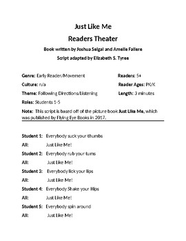Just Like Me Readers Theater