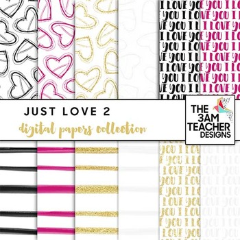 Just Love Digital Papers Set #1