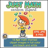 Math Theme Clipart | Math Clipart | Math Cartoon Clipart for ALL grades