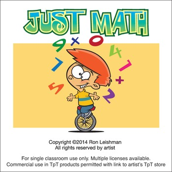 Just Math Cartoon Clipart