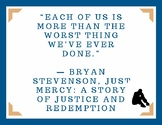 Just Mercy (Bryan Stevenson) Quote Poster