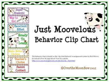 Just Moovelous Behavior Clip Chart
